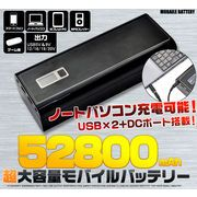 ノートパソコンも充電可能! 超大容量52800mAhモバイルバッテリー