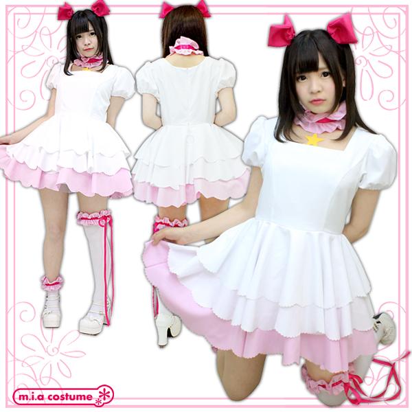 1120D★MB■送料無料■ チェリーガール プラチナ衣装セット 色:白 サイズ:M/BIG
