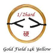 ゴールドフィルド イエロー ラウンドワイヤー ハーフハード/硬め やっとこ等工具を使っての作業に