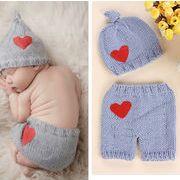 撮影服★赤ちゃんのために★新作登場★帽子★ベビー ニット帽子と服
