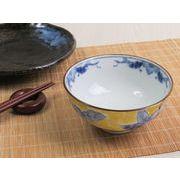 【艶やか和的ラグジュアリー】 優美な黄花 丸みのお茶碗