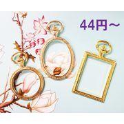 【売り尽くしセール】アンティークパーツ レジンフレーム 時計 デザインレジン空枠 円形タイプ