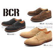 S) 【BCR】 BC-024 リアルレザー プレーントゥ レースアップ シューズ 全3色 メンズ