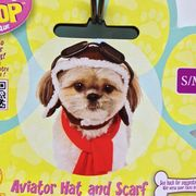 【RUBIE'S】 飛行犬 帽子&スカーフ セット