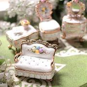 【限定SALE】宝石箱 ジュエリーボックス 【 ミニチュア家具シリーズ (ホワイト) 】