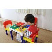 【直送可】【送料無料】テーブル&チェアーセット(100PCSブロック付)【ベビー/キッズ】