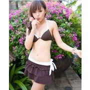 『即納』ビキニ/ミニスカート付き/水着3点セット/ワンピース水着/水着レディース