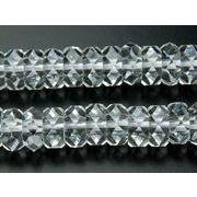【水晶ボタンカット】 4x8mm 1連(約38cm)_R890-8/A7-4
