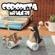 【清掃グッズ】コロピタ ナチュラル 木 木製 コロコロ 掃除 飛行機 ペンギン アヒル インテリア