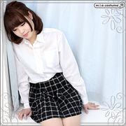 ■送料無料■チェック柄プリーツスカート単品 色:ネイビーグリーン サイズ:M/BIG