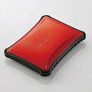 エレコム ポータブルHDD 超衝撃吸収 ZEROSHOCK 1TB レッド ELP-ZS010URD