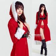【即日出荷】ロング丈ドレス サンタコスチューム クリスマス コスプレ衣装【9224/1】