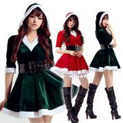 【即日出荷】2色 ベルト サンタコスチューム クリスマス コスプレ衣装【9226/2】