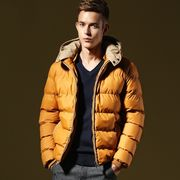 中綿ジャケット ブルゾン フードジャケット キルティングコート メンズ ショート丈 アウター 厚手 防寒
