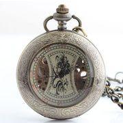 ■懐中時計■  機械式手巻ネックレス時計  B