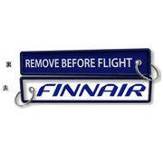 Kool Krew/クールクルー キーチェーン フィンランド航空 「 REMOVE BEFORE FLIGHT」
