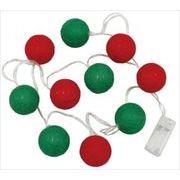 【在庫限り】丸和貿易 イルミネーション ボールライトガーランド LED10球 クリスマス カラー 1.65m