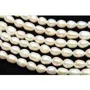 淡水真珠パール ライス ホワイト 4~5mm 1連(約38cm)_R1922-4/A4-4