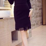 秋冬のタイトスカート 黒/スカート 大きいサイズ