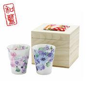 花工房 ペアフリーカップ(ちりめん木箱)