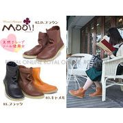 S) 【Mooi! Antique】 本革オイルレザー サイドゴア ショートブーツ 全3色