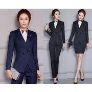 ★S~4L★大きいサイズ  OL通勤 通学 面接 ビジネス 制服 レディーススーツ