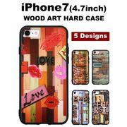 【iPhone7】おしゃれなアンティークウッドアート ウッドプリント背面ケース スマホケース