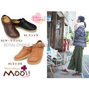 S) 【Mooi! Antique】本革オイルレザー サボサンダル 全3色