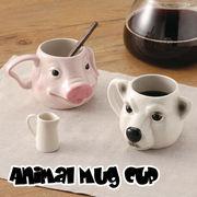 【激安大特価】アニマルマグカップ ネコ