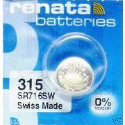 レナータ 315(SR716SW)コイン型ボタン電池/酸化銀一次電池/レナタ