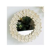 SHABBY FLORAL MIRROR RD S