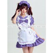 紫 メイド服 家政婦 ハロウィン衣装 コスプレ衣装