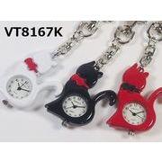 VITAROSOホルダー時計 日本製ムーブメント ネコモチーフ