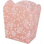 あまの バラ柄 ゴミ箱 ダストボックス Simone ピンク