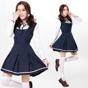 【即日出荷】紺 ラブライブ風 ワンピース コスプレ衣装 【7802】