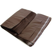 ビニール宅配袋 中 Mサイズ A4ファイル ブラウン テープ付き透けない 宅配袋 梱包資材vin3