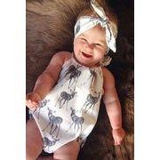 ★韓国スタイル★ベビー・新生児服★赤ちゃんファッション連体服★ロンパース ヘアバンド付き