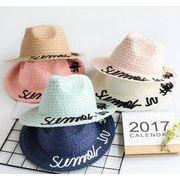 カジュアルラフィアハット★大人気ジャズ帽子★ キッズファッション&帽子★草編み帽子★シルクハット