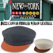 NEWYORK HAT #6222 Canvas Fiddler w/Raw Leather   15703
