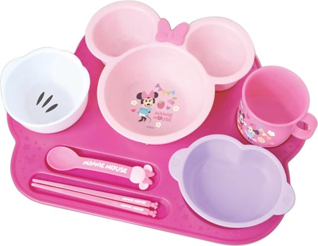 錦化成 ベビー食器セット ミニーマウス まんぞくプレート