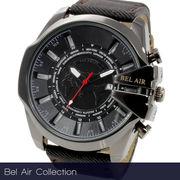 【Bel Air collection】ワールドタイム搭載 メンズ 腕時計 OSD52 【ビッグフェイス】