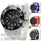 【L'etoile】ビッグフェイス メンズ 腕時計 VV1
