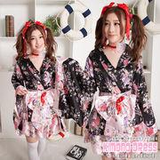 フリルスカート 着物ドレス 浴衣 コスプレ 【4055/6】