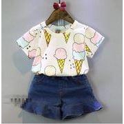 子供服★女の子向けシャツ アイスクリーム柄tシャツ★今季イチオシの一枚★100-140