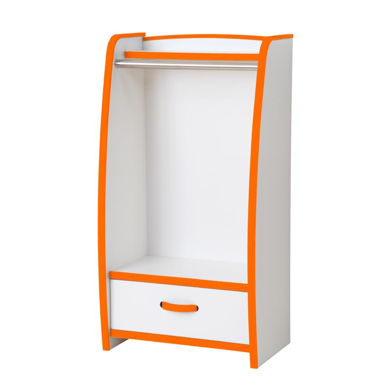 ハンガーラック 幅48cm カラー6色(オレンジ・グリーン・ブルー・オレンジ・レッド・ホワイト・ブラウン)