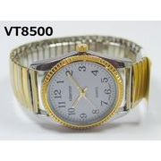 VITAROSOメンズ腕時計 ジャバラベルト 日本製ムーブメント 見やすい文字盤