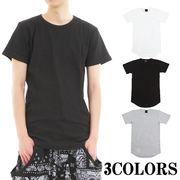 ワッフル 半袖ロング丈Tシャツ
