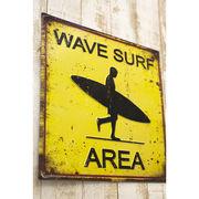 スクエア エンボスプレート Wave Surf★