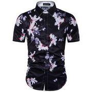 ワイシャツ♪ホワイト/ブラック2色展開◆【春夏新作】