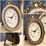 【置時計】アガットテーブルクロック♪オーバル♪